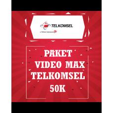 Paket Video Max Telkomsel 50K